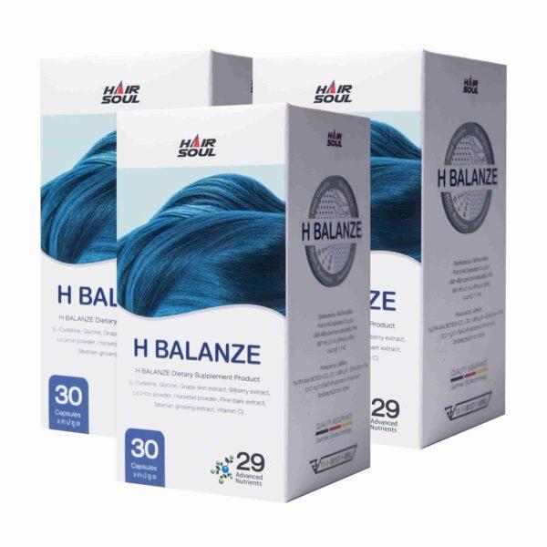 ยาปลูกผม Hair Soul - H Balanze - ยาปลูกผมชาย เอช บาลานซ์ 3 กระปุก