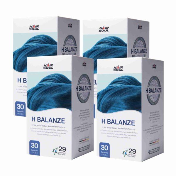 ยาปลูกผม Hair Soul - H Balanze เอชบาลานซ์ - ยาปลูกผมที่ดีที่สุดสำหรับผู้ชายและผู้หญิง 4 กระปุก