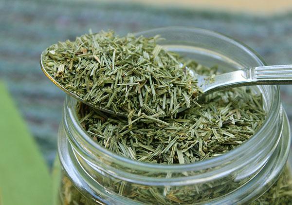 หญ้าหางม้าหรือฮอร์สเทลแบบแห้ง