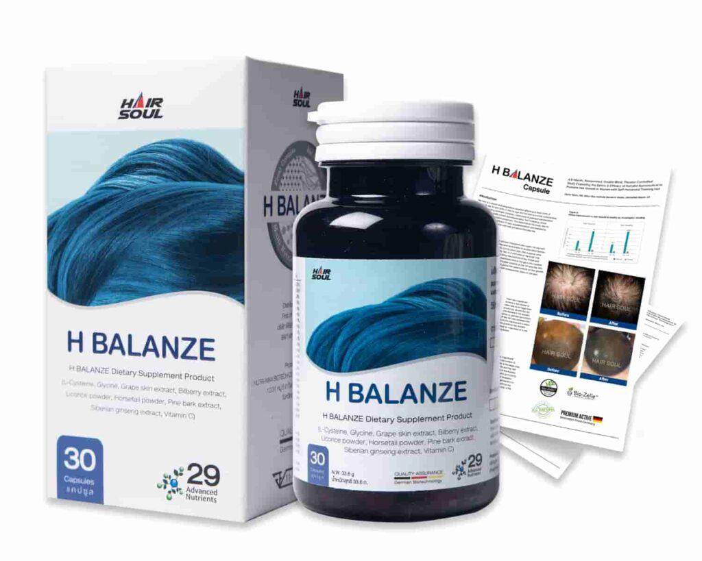 ยาปลูกผม H Balanze - Hair Soul ยากระตุ้นผมใหม่ resize 1